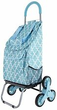 Trolley Dolly Stair Climber, Morrocan Tile Grocery Foldable Cart Condo Apartment