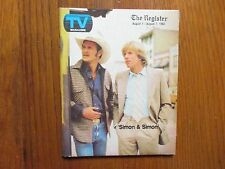 Aug-1982 Santa Ana, Ca. Register TV Mag(SIMON & SIMON/JEANNIE WILSON/THORN BIRDS