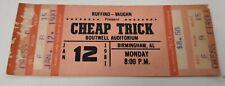 Vintage 1981 Cheap Trick Concert Ticket Boutwell Auditorium Birmingham Alabama