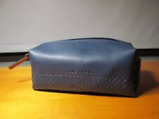 COLE HAAN AMERICAN AIRLINES BLUE amenity kit bag cosmetic travel holder dopp