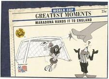 UPPER DECK WORLD CUP USA 1994-LOONEY TOONS- #099-MARADONA HANDS IT TO ENGLAND