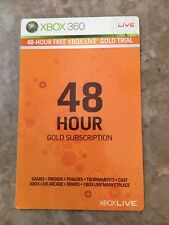 Xbox 360 48-hour FREE XBOX LIVE GOLD TRIAL