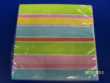 Sweet Soiree Stripe Ice Cream Cookout Picnic Summer Party Paper Beverage Napkins