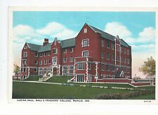 Lucina Hall Ball's Teachers College  Muncie IN   Mailed 1938    Postcard 1043