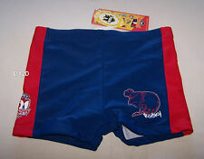 Sydney Roosters NRL Boys Navy Blue Printed Swim Trunk Bathers Size 4 New