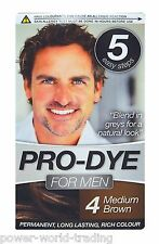 PRE DYE MEN's PERMANENT HAIR DYE COLOURANT CREME COLOUR BLACK DARK MEDIUM BROWN