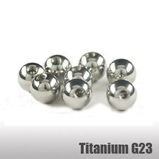 Titanio Piercing Bola 1,2mm Rosca Bola De Tornillo 2,5/3/4/5mm
