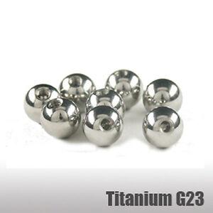 2er Set Titan Piercing Kugel 1,2mm Gewinde Schraubkugel 2,5/3/4/5mm Ball Ersatz