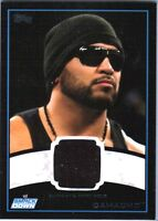 WWE Camacho 2012 Topps BLACK BORDER Event Worn Shirt Relic Card /50 DWC
