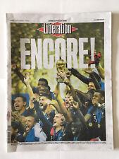 JOURNAL LIBERATION 16 07 18 COUPE MONDE RUSSIE FRANCE CROATIE ENCORE !