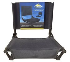 Durable Stadium Seat Fits Any Metal or Wooden Bleacher by Cascade - Black