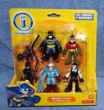 Imaginext 2013/2014 Dc Super Friends Batman Heroes & Villains 5 Figure Pack