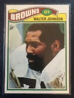 VINTAGE 1977 Topps #476  Walter Johnson Cleveland Browns