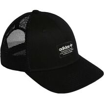 Adidas Originals Black Mesh Trefoil Snapback Trucker Golf Hat Ball Cap Athletic