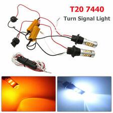 2X 7440 T20 de doble color ámbar-Blanco LED DRL Switchback Bombillas De Señal De Vuelta