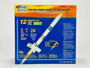 Estes Educator Rocket Generic Bulk Pack E2X Easy To Assemble 12 EST1764 NIB
