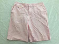Ralph Lauren Golf Shorts Pink & White Seersucker Size 10