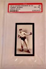 1912 TOMMY BURNS *HOF* BOXER PSA 6 COHEN & WEENEN Only 1 psa 7 Higher TOUGH CARD