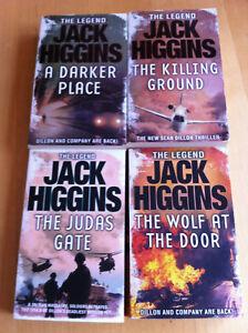 Jack Higgins Sean Dillon Thriller 4 englischsprachige Taschenbücher