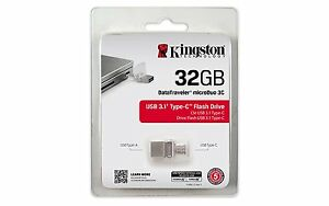 Kingston DataTraveler MicroDuo 32GB Type-C USB 3.1 Flash Drive - Android Devices