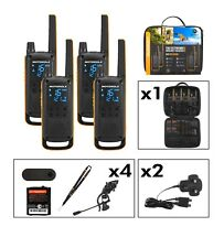 Brand New Motorola T82 Extreme Walkie Talkie Quad Pack Licence Free 2 Way Radios