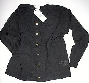 Noa Noa Strickjacke Cardigan Wool Blend Black  size: L Neu
