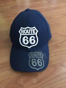 ROUTE 66 HIGHWAY  BASEBALL CAP HAT ( DARK BLUE )
