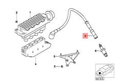 Genuine BMW E46 Coupe Sedan Wagon Ignition Lead Set OEM 12121709206