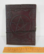 Leather Book Hand crafted shadows spells Journal Keepsake spell 18cm