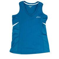 ASICS Women's Sleeveless Top Activewear Blue White Size 8