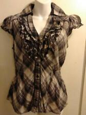 PRICE REDUCED: INC International Concepts Grey Ruffled Top - Size S