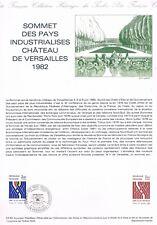 Document Officiel  Sommet Des Pays Industrialises Versailles 1982  Yv 2214