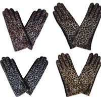 Brand New Thomas Calvi Ladies Leopard Print Gloves, Great Value Free P&P!!