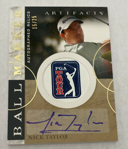 2021 Upper Deck Artifacts Ball Marker Relic AUTO 15/25 NICK TAYLOR #BMA-NT