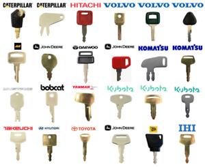 Plant Keys Thwaites, JCB, Bomag, Hitachi, Takeuchi, Komatsu, Dumpers, Excavators