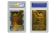 1996-97 MICHAEL JORDAN SKYBOX EX-2000 CREDENTIALS 23K GOLD CARD GEM MINT 10 BLUE