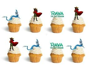 Raya Last Dragon Birthday Cup Cake Toppers