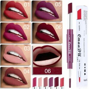 1pc Lip Liner Lipstick Double Heads Non Stick Long-lasting Waterproof Cosmetic