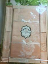 Vintage Damask Irish Linen Table Cloth & 4 Napkins