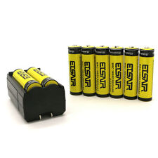 8pc 18650 3.7V 9900mAh Rechargeable Li-ion Battery Batteries + Charger USA Stock
