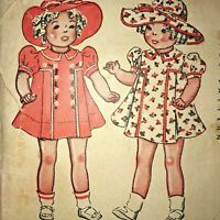 "VTG McCall 22"" Doll Dress & Hat Pattern UNCUT Marked Sample- Shirley Ideal Patsy"