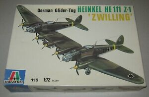 Italaerei - 119 - 1/72 Heinkel He111 Z-1 'Zwilling' model kit - Pre-owned.