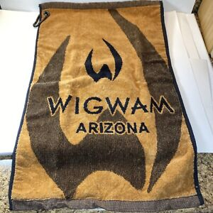 Vintage Wigwam Arizona Golf Towel Made In USA HomTex Mills