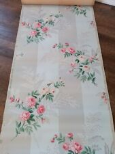 Vintage wallpaper may have some water damage flowers with blue and gray back