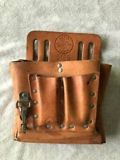 Klein Tools 5165 10 Pocket Electrician's Tool Pouch Leather / Nice Shape