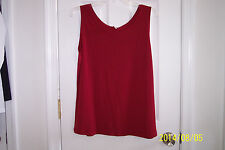 NEW Womens XL Red Sleeveless Blouse Top Very Nice Red Color!!!