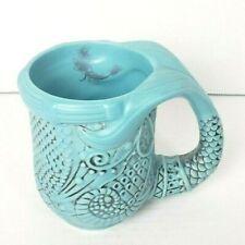 Disney Parks Little Mermaid Aqua Ariel Tail Ceramic Cup Coffee Mug