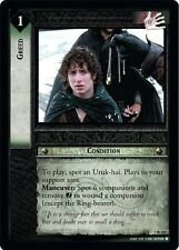 LoTR TCG FoTR Fellowship Of The Ring Greed 1R125
