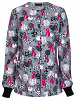 Cherokee Women's 100% Cotton Long Sleeve Snap Front Warm Up Scrub Jacket. 42350C