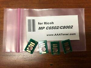 4 x Toner Chip for Ricoh Aficio MP C6502, MP C8002 (842083 ~ 842084) Refill